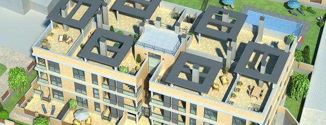 Puerta de Santa Ana, Utebo. Vivienda, terrazas, pisos, locales, garajes y trasteros. Inmueble de Prodearco en Zaragoza